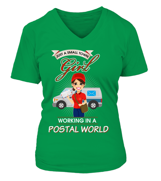 Small Town Girl Working In A Postal World Shirt - Giggle Rich - 14