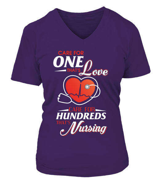 Care For Hundreds That's Nursing Shirt - Giggle Rich - 6