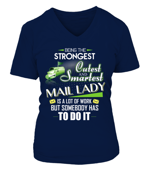 Cutest And Smartest Mail Lady Shirt - Giggle Rich - 8