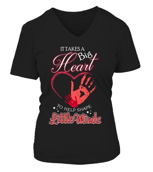 It Takes Big Heart To Help Shape Little Minds Shirt - Giggle Rich - 13
