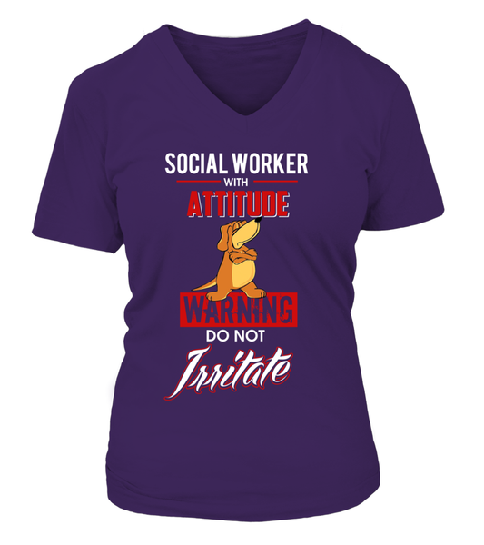 Social Worker With Attitude Shirt - Giggle Rich - 15