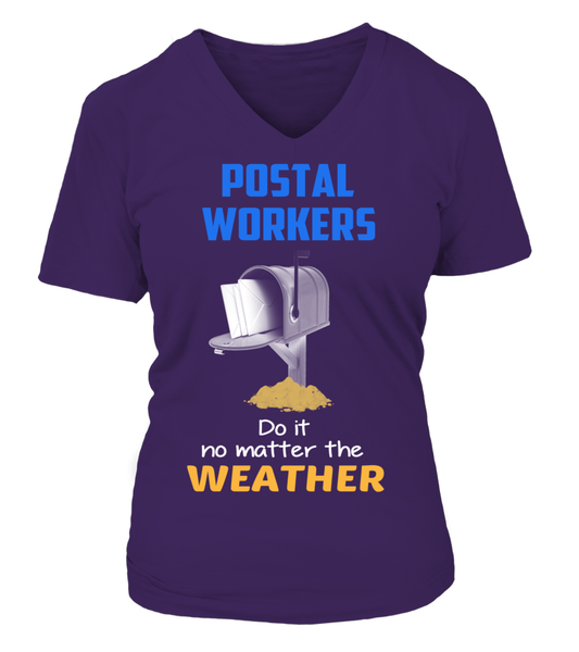 Postal Workers Do It No Matter The Weather Shirt - Giggle Rich - 4