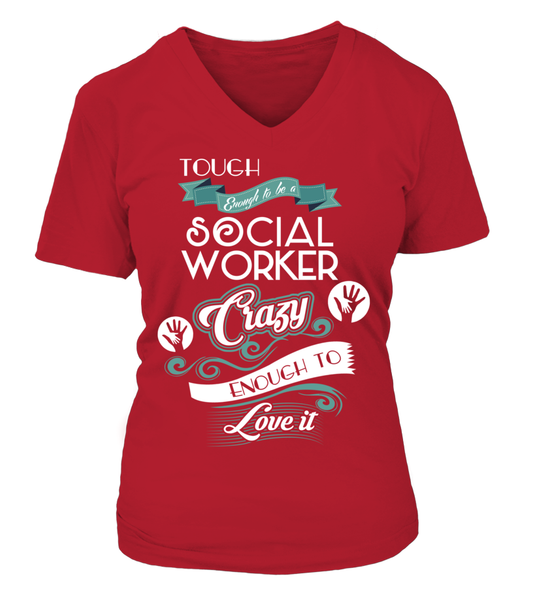 Tough Enough To Be A Social Worker Shirt - Giggle Rich - 15