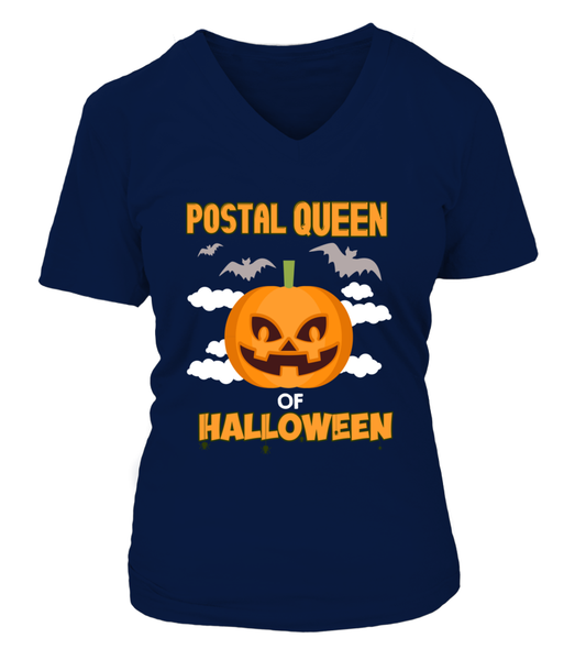 Postal Queen Of Halloween Shirt - Giggle Rich - 15