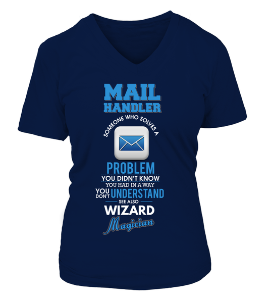 Mail Handler Solves Problems Shirt - Giggle Rich - 14