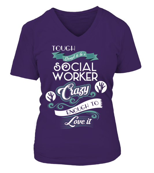 Tough Enough To Be A Social Worker Shirt - Giggle Rich - 14