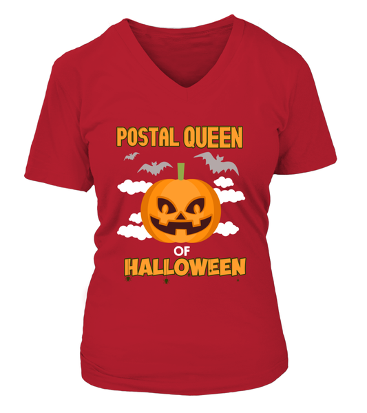 Postal Queen Of Halloween Shirt - Giggle Rich - 14