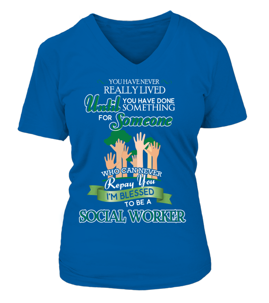 I'm Blessed To Be A Social Worker Shirt - Giggle Rich - 14