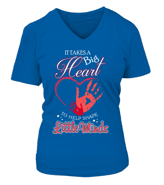 It Takes Big Heart To Help Shape Little Minds Shirt - Giggle Rich - 10