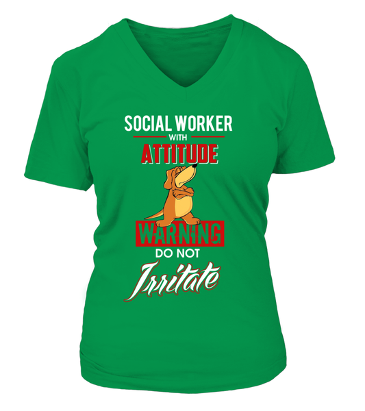 Social Worker With Attitude Shirt - Giggle Rich - 16