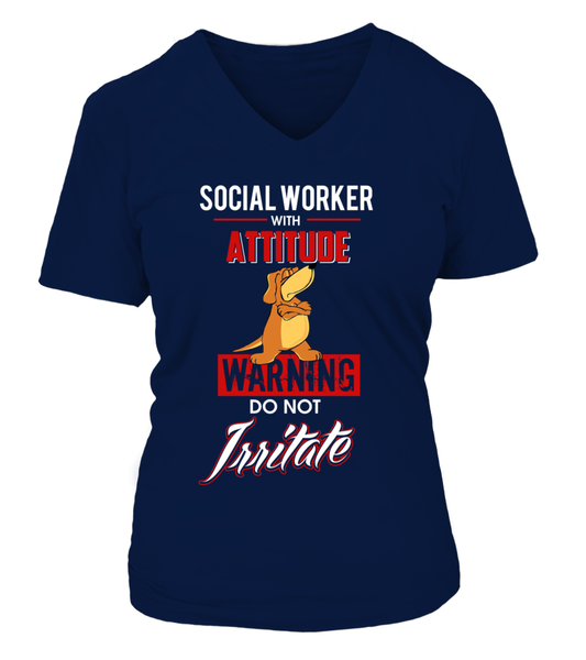 Social Worker With Attitude Shirt - Giggle Rich - 14