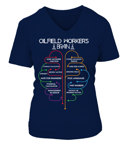 Oilfield Workers Brain Shirt - Giggle Rich - 14