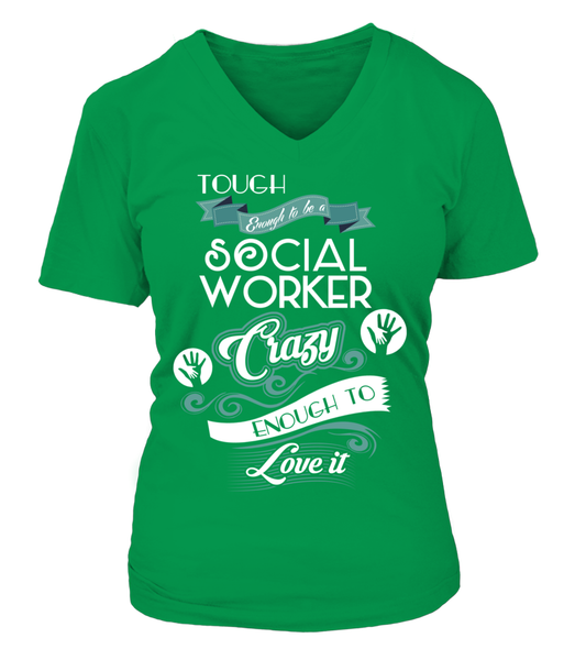 Tough Enough To Be A Social Worker Shirt - Giggle Rich - 16