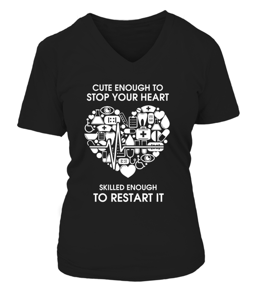 Cute Enough To Stop Your Heart Shirt - Giggle Rich - 17