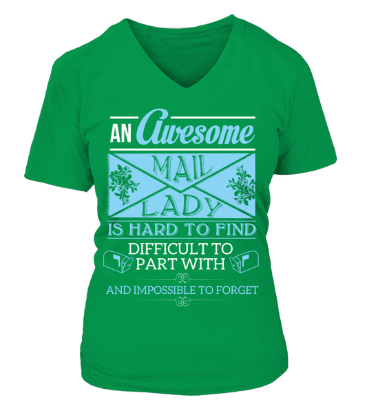 An Awesome Mail Lady Shirt - Giggle Rich - 18