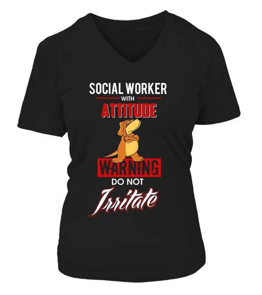 Social Worker With Attitude Shirt - Giggle Rich - 13