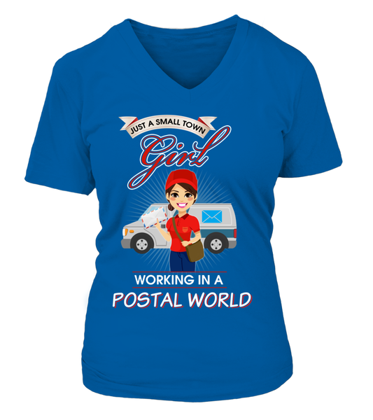 Small Town Girl Working In A Postal World Shirt - Giggle Rich - 15