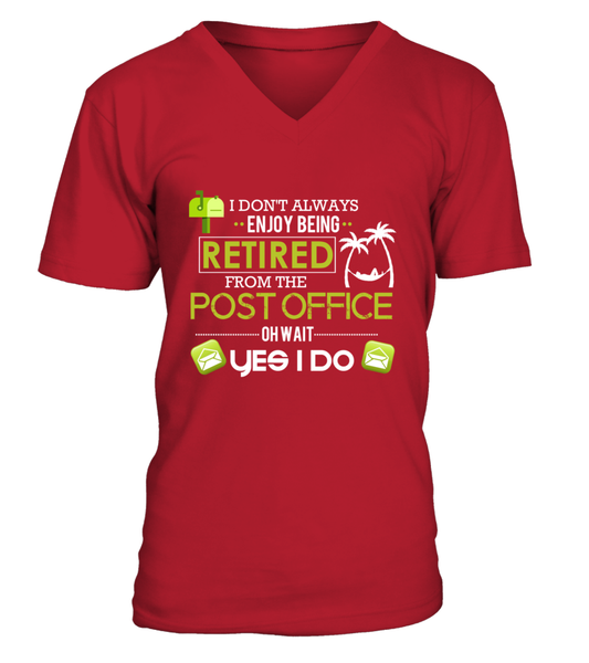 Enjoying Being Retired Postal Worker Shirt - Giggle Rich - 13