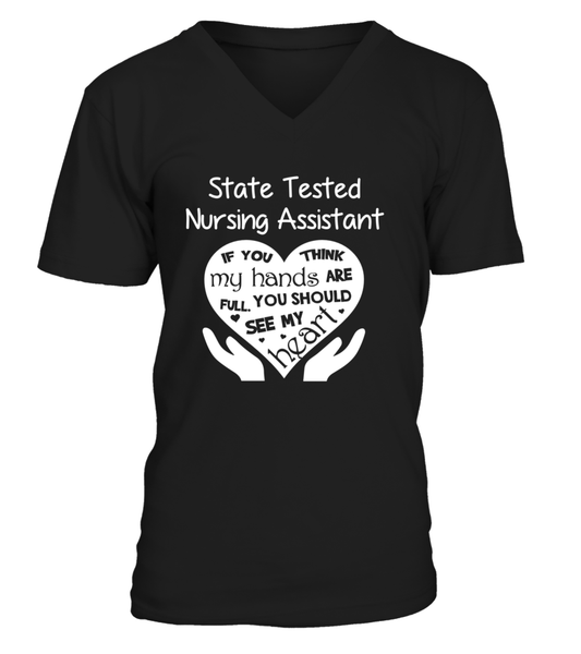 State Tested Nursing Assistant Heart Shirt - Giggle Rich - 4