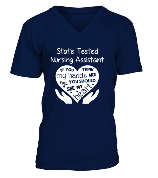 State Tested Nursing Assistant Heart Shirt - Giggle Rich - 5