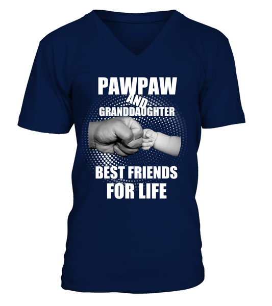 PawPaw & Granddaughter Best Friends For Life Shirt - Giggle Rich - 9