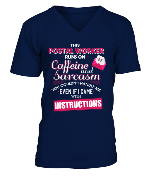 The Postal Worker Runs On Coffeine And Sarcasm Shirt - Giggle Rich - 5