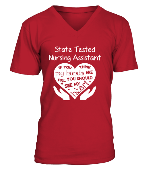 State Tested Nursing Assistant Heart Shirt - Giggle Rich - 6