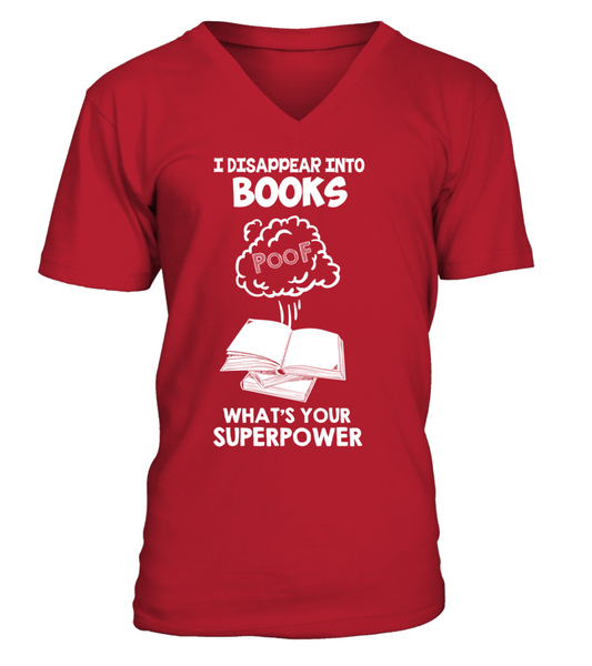 I Disappear Into Books - What's Your Superpower? Shirt - Giggle Rich - 9