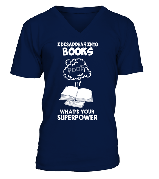 I Disappear Into Books - What's Your Superpower? Shirt - Giggle Rich - 8