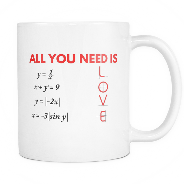 All You Need Is Love Coffee Mug - Giggle Rich - 1