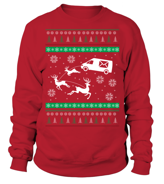 Postal Workers Ugly Christmas Sweater D1 Shirt - Giggle Rich - 2