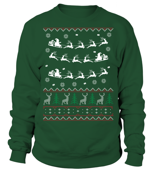 Postal Workers Ugly Christmas Sweater D2 Shirt - Giggle Rich - 1