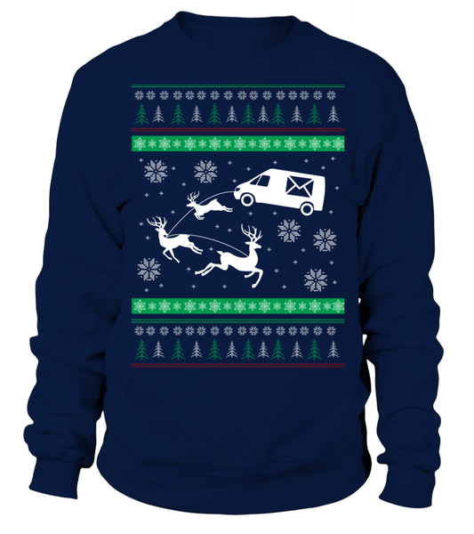Postal Workers Ugly Christmas Sweater D1 Shirt - Giggle Rich - 5
