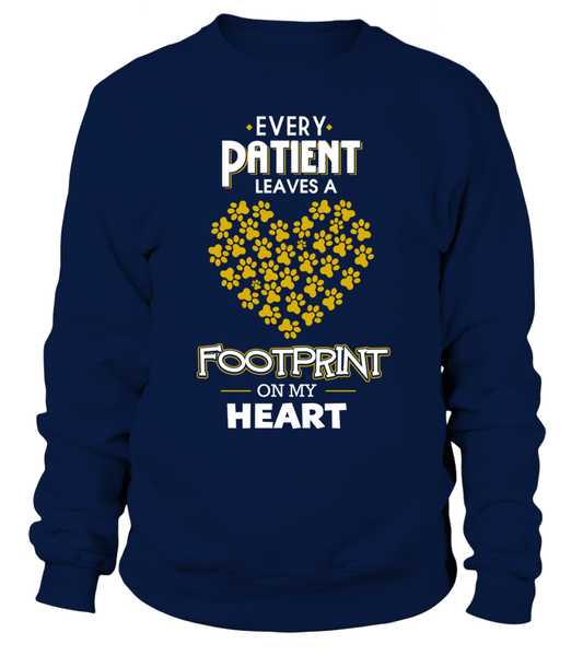Every Patient Leaves A Footprint On My Heart Shirt - Giggle Rich - 3