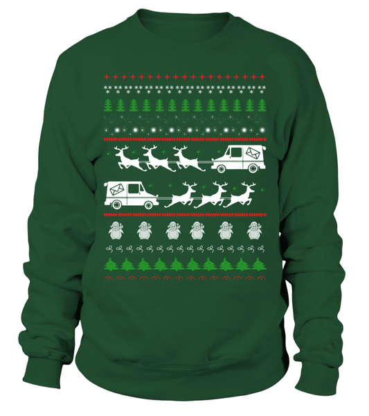 Postal Workers Ugly Christmas Sweater D4 Shirt - Giggle Rich - 1