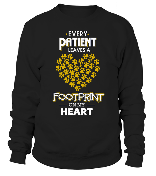 Every Patient Leaves A Footprint On My Heart Shirt - Giggle Rich - 2
