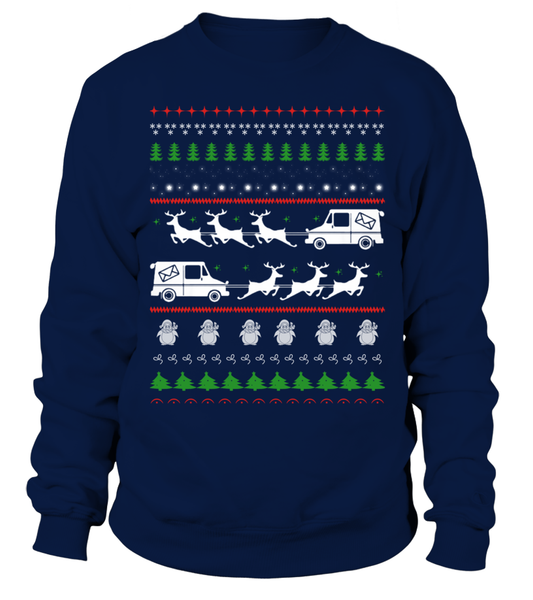 Postal Workers Ugly Christmas Sweater D4 Shirt - Giggle Rich - 12