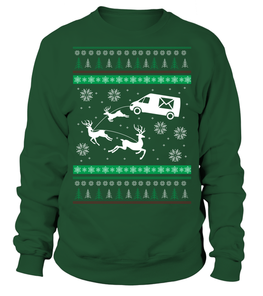 Postal Workers Ugly Christmas Sweater D1 Shirt - Giggle Rich - 1