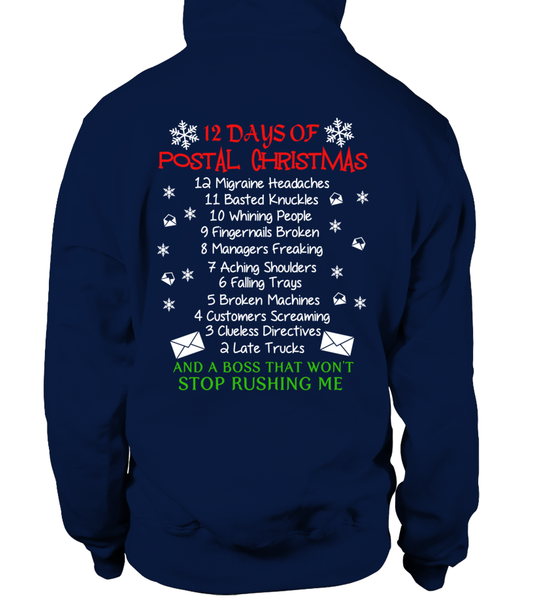 12 Days Of Postal Christmas Shirt - Giggle Rich - 14