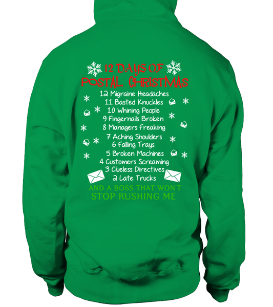 12 Days Of Postal Christmas Shirt - Giggle Rich - 20