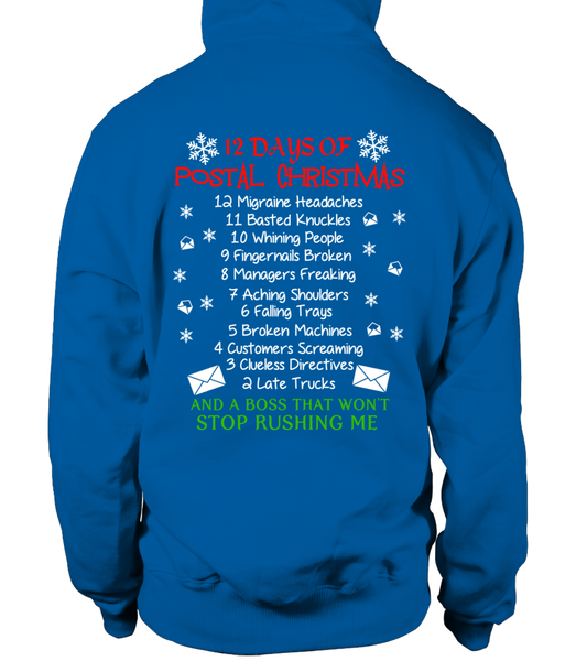 12 Days Of Postal Christmas Shirt - Giggle Rich - 18