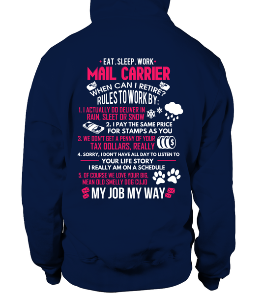 Mail Carrier - Rules To Work Shirt - Giggle Rich - 12