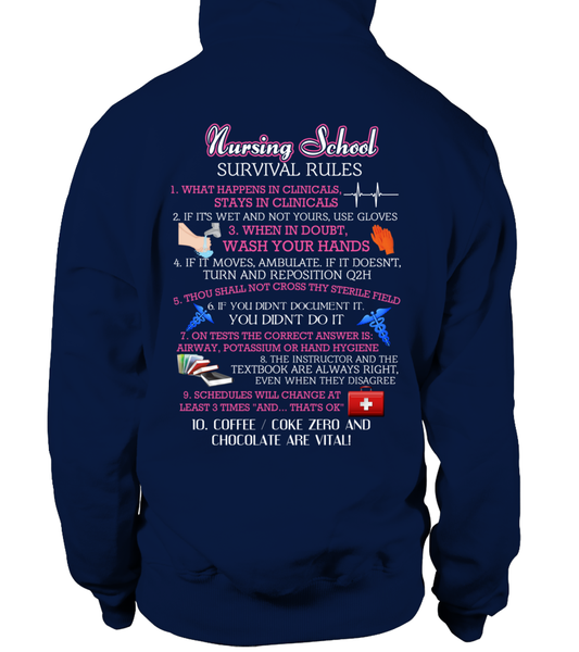Nursing School Survival Rules Shirt - Giggle Rich - 12