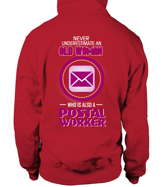 Never Underestimate An Old  Postal Worker Woman Shirt - Giggle Rich - 3