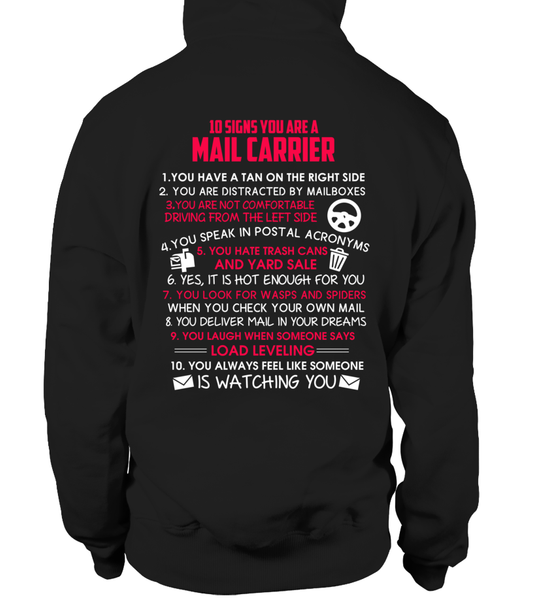 10 Signs That You Are A Mail Carrier Shirt - Giggle Rich - 1