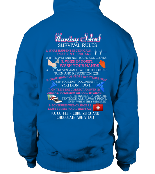 Nursing School Survival Rules Shirt - Giggle Rich - 10