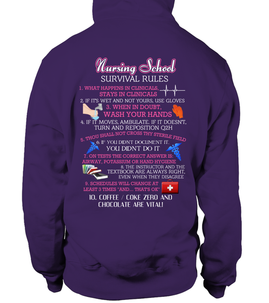 Nursing School Survival Rules Shirt - Giggle Rich - 8