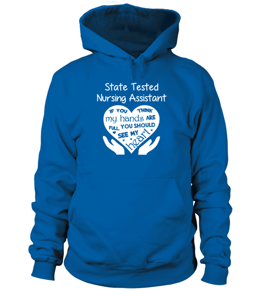 State Tested Nursing Assistant Heart Shirt - Giggle Rich - 13