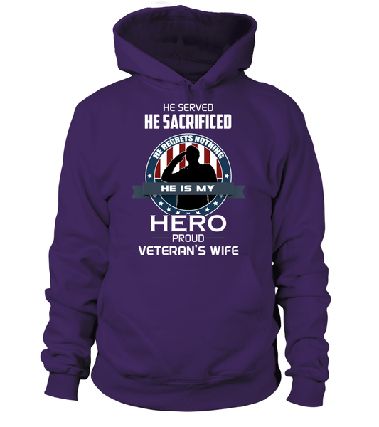 Proud Veterans Wife Shirt - Giggle Rich - 1