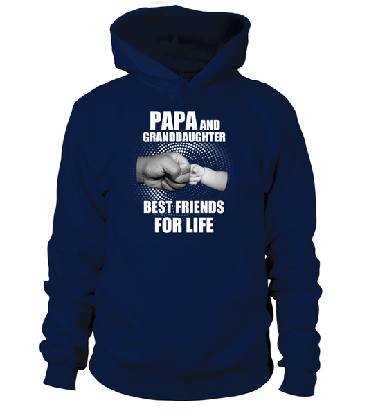 Papa & Granddaughter Best Friends For Life Shirt - Giggle Rich - 1